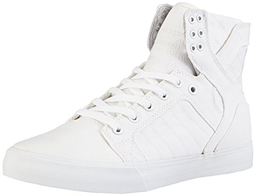 Supra Skytop D Off White/White Sneaker Men's 7, Women's 8.5 D - Medium by Supra