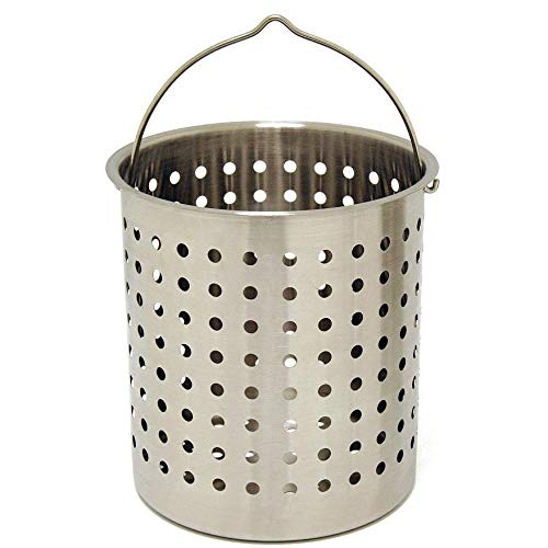 Bayou Classic Perforated Basket 24 Qt Stainless Steel by Bayou Classic