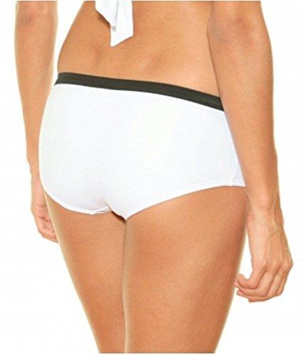 push intorno con fodera shortyt collo da bagno Costume bretelle bianco 2 al nero da rimovibile pezzi up e donna pH47qwY