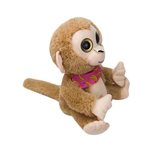 NOMENI Plush Toy,7.0Inch Cute Mimicry Pet Talking Monkey Repeats What You Say Electronic Plush Toy Kids Toy -