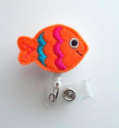 Colorful Fish - Cute Badge Holder - Nurses Badge Holder - Felt Badge Holder - Nursing Badge Holder - Cute Badge Reel - RN Badge Reel - Teacher Badge - Badge Clip - Badge Pull