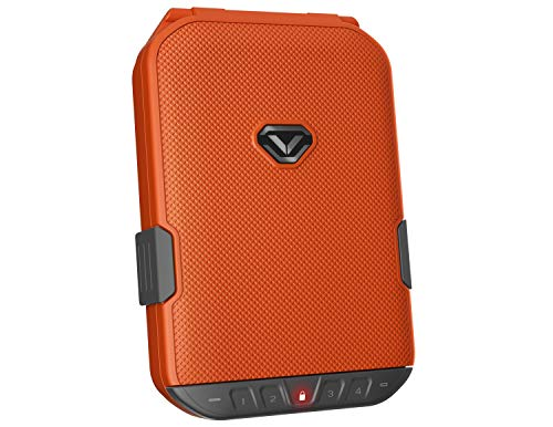 Vaultek LifePod Secure Waterproof Travel Case Rugged Electronic Lock Box Travel Organizer Portable Handgun Safe with Backlit Keypad (Rush Orange)