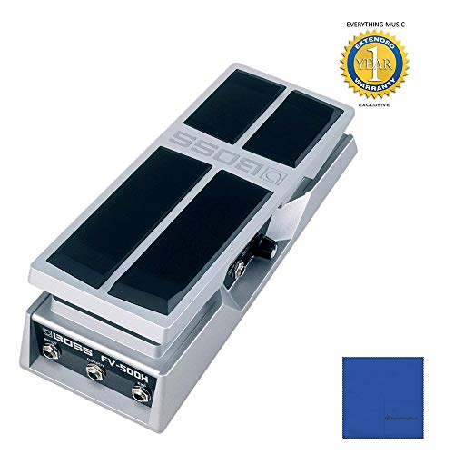 Boss FV-500H High-impedance Volume/Expression Pedal with 1 Year Free Extended Warranty (Boss Fv 500h Volume Pedal High Impedance)