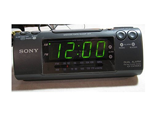 Sony Dream Machine ICF-C470MK2 Dual Alarm AM/FM Clock