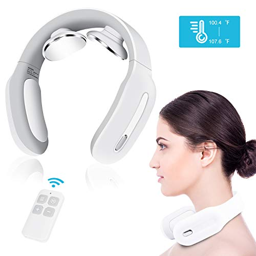 Neck Massager with Heat, 4D Wireless Intelligent Trigger Point Deep Tissue Massage for Office, Home, Sport and Travel