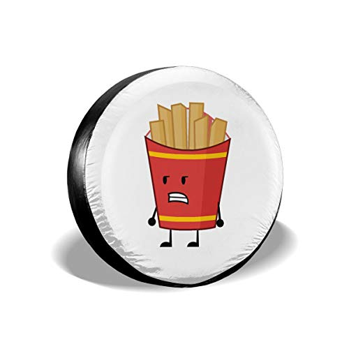 Love Taste French Fries Spare Tire Cover Polyester Waterproof Dust-Proof Universal Spare Wheel Tire Cover Fit for Jeep,Trailer, RV, SUV and Many Vehicle DIY