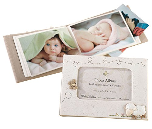 Lillian Rose Photo Album with Photo Frame On Cover, Little Lamb, 4.75