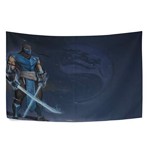 (MAXM Mortal Kombat Sub Zero Swords Art Wall Hanging Tapestry Bedroom Living Room Beach Doorway Curtain Christmas Thanksgiving Day Decoration 60 X 40)
