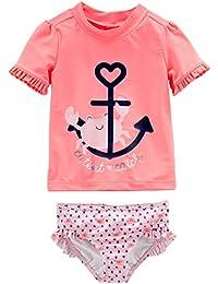 Baby and Toddler Girls' 2-Piece Rashguard Set