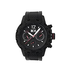 MOS Men's MOSCB105 Casablanca Black Silicone Watch