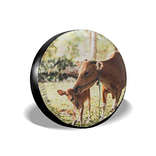 Greatmindo Tire Cover 15 Inch Cow Kiss Calf 14