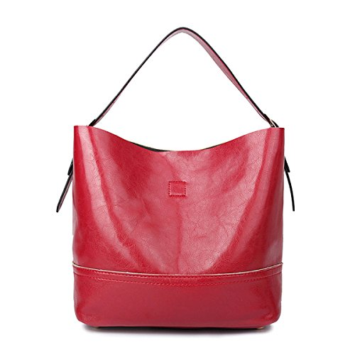 ZPFME Bolso Para Mujer Dos Piezas Moda Niñas Fiesta Retro Señoras Moda Casual Bolsos Señoras Bolsa Regalo Red
