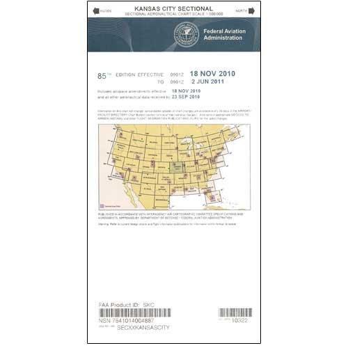 FAA Chart: VFR Sectional KANSAS CITY SKC (Current Edition)