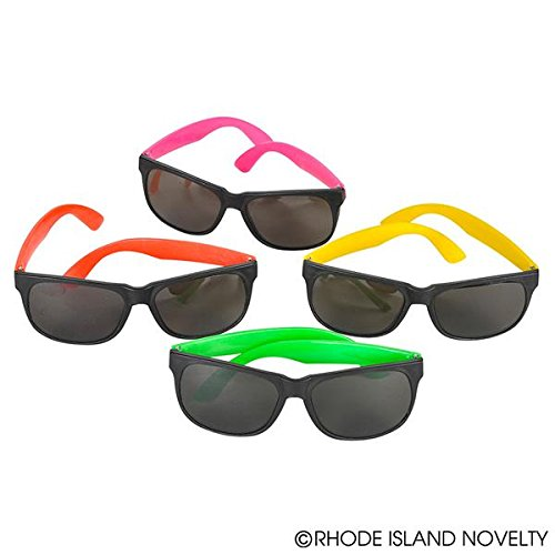 Rhode Island Novelty 097138611215 Neon 80's Style Party Sunglasses (2 Dozen) -