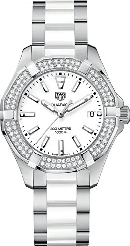 Tag Heuer Aquaracer Quartz Ladies Diamonds 35mm Ladies Watch WAY131F.BA0914