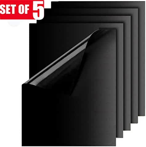Grill Mat, Yokamira Non-Stick BBQ Grill Mats, Set of 5 Barbecue Mat Durable, Reusable and Easy to Clean, FDA-Approved, PFOA Free, Size 13