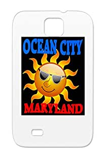 Ocean City Maryland Sun Blue Red Text Large Miscellaneous Animals Nature Ocean Text Large Maryland Navy For Sumsang Galaxy S4 Cover Case