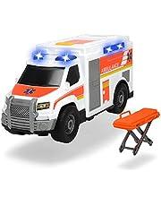 Dickie Toys 203306002 - Ambulance, licht en geluid, met ladder, 30 cm, vanaf 3 jaar