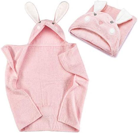 Toalla con capucha para bebé Toalla con capucha de 100% algodón de rizo - Toalla de baño para bebé con capucha - Oeko-Tex 100; conejo: Amazon.es: Hogar