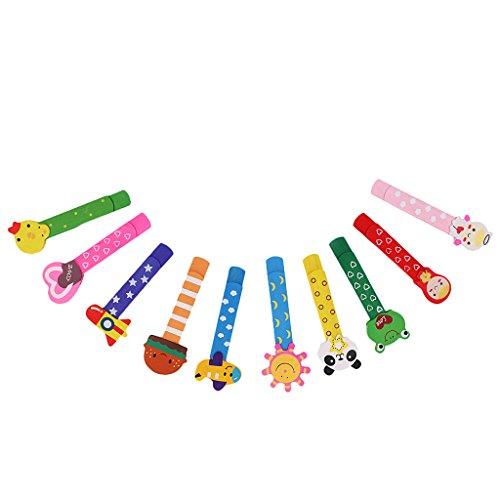 10pcs Bande Dessinée Bois Trombones Signet Pour Enfant Cadeau Marque Page Coloré