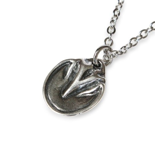 Barefoot Horse Hoof Pendant Necklace - Horse Hoof Necklace in Bronze or Sterling Silver White Bronze on a 24 Inch Chain (Sterling Silver White Bronze) (Custom Sterling Silver Cast)
