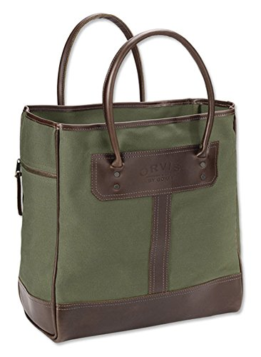 Orvis Bootlegger Leather & Canvas Tote Bag, (Orvis Leather Luggage)