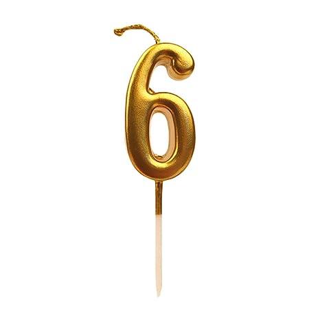 Toyvian - Velas para tarta con números dorados con purpurina ...
