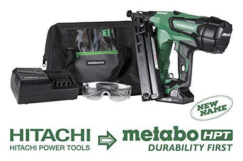 Metabo HPT Cordless Finish Nailer Kit, 18V - 3.0 Ah Lithium Ion Battery, Brushless Motor, 15 Gauge, Lifetime Tool Warranty (NT1865DMA)