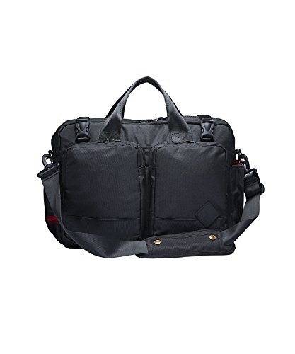 Woolrich X the Hill-Side Briefcase, Black, One (Ballistic Nylon Briefcase)