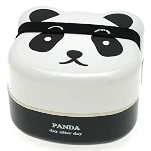 Kotobuki 280-129 2-Tiered Bento Box, Panda Face