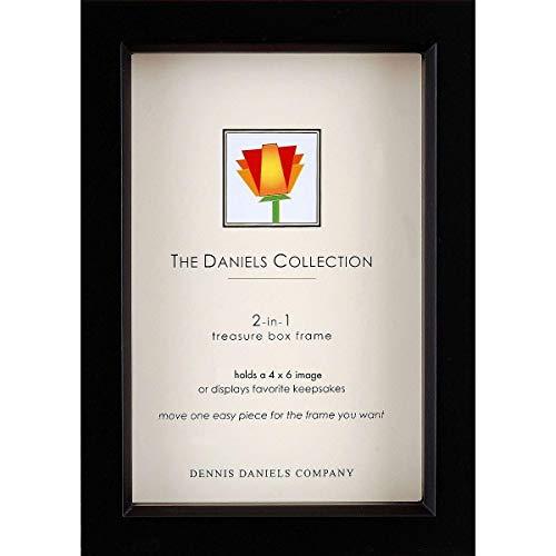 Dennis Daniels Wood Treasure Box Picture Frame, 4 x 6 Inches, Ebony]()