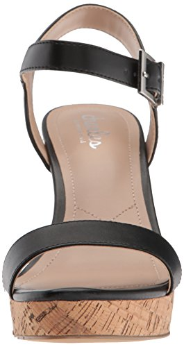 Wedge David Sandal Charles Charles Women's Lindy Black by q1pzA
