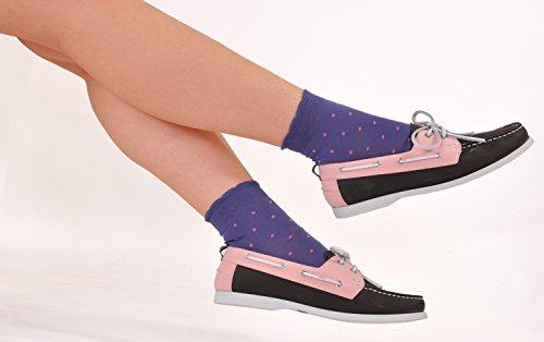 Marcoliani Women's Daisy-top Hot Shortys Italian ExtraFine Cotton Socks - 1 Pair Cobalt Blue by Marcoliani Milano (Image #2)