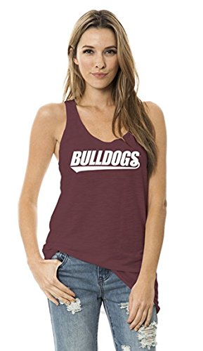 Official NCAA Mississippi State University Bulldogs HAIL STATE BULLY Women's Ath Lesiure Tank Top, Michigan State Spartans, Extra Large