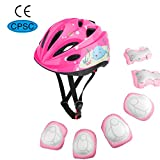 MoKo Helmet for Kids 3-10 Years, Toddler Adjustable Bike Helmet Sports Protective Gear Set Knee Pads Elbow Guards Wrist Pads for Roller Skateboard Bicycle Scooter for Boys Girls