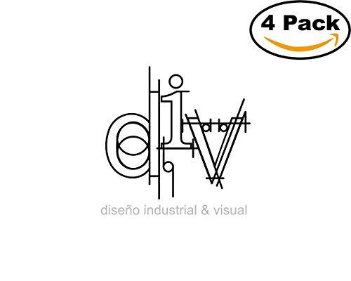 Div 4 Stickers 4X4 inches Car Bumper Window Sticker Decal (Decal Div)
