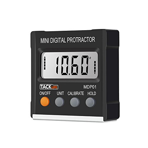 ic Digital Magnetic Angle Gauge Level / Bevel Gauge/ Protractor / Angle Finder with Zinc Alloy Material, Magnetic Base, Battery Included for Miter Saw, Woodworking, DIY and etc (Battery Finder Tool)