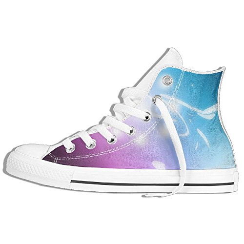 Classic High Top Sneakers Canvas Shoes Anti-Skid Free Spirits Casual Walking For Men Women White VhU9Pf