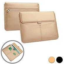 Tesco Hudl 2 tablet case sleeve, COOPER ENVELOPE [Premium Business Travel Portfolio] Executive Protective Carrying Cover + Card Slots, Pocket, Stylus Holder (Gold)