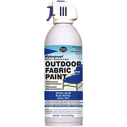 Deval Products OF0046008M Outdoor Spray Fabric Paint, 13.3 oz, Royal Blue]()