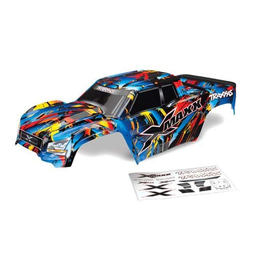 - Traxxas Body, X-Maxx, Rock n' Roll (Painted, Decals Applied) (Assembled with Tailgate Protector)