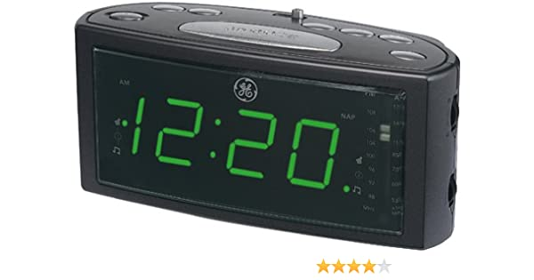GE 74853 AM FM Clock Radio With 1 4 Green LED Dual Wake NAP Timer Prog Snooze Discontinued By Manufacturer