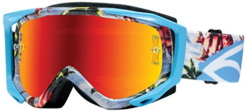 Smith Optics Fuel v.2 Sweat X M Motocross Goggles (Blue Burnout Frame/Red Mirror, Clear Lens)