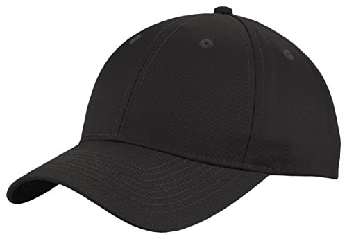 Port Authority Twill Cap - Port Authority Unisex-adult Uniforming Twill Cap (C913) -BLACK -OSFA