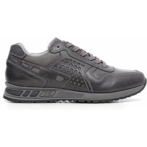 Nero Giardini - Zapatos de cordones de Piel para hombre Musk Antracite