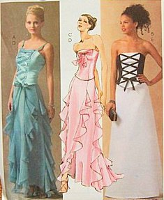 McCall's 4709 Misses Corset Strapless Laced Bustier Basque Ruffled Evening Gown Dress Skirt Prom Bridal Pattern Size - Ruffled Bustier