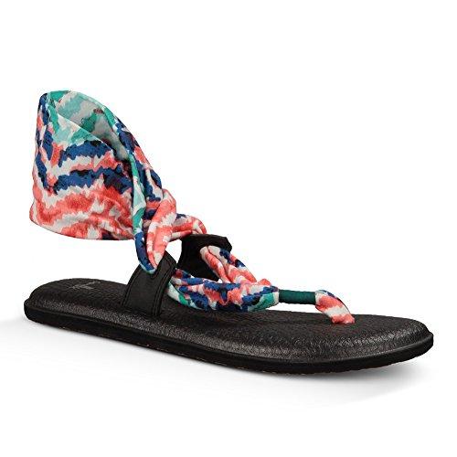 Sanuk Womens Yoga Slinglet Prints Sandal/Flip Flops/Slipper Footwear Size 06 Bright Blue Ikat (Yoga 6 Sanuk Mat)
