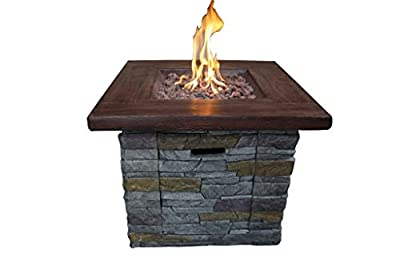 Belmont Home Brick Outdoor Square Gas Fire Pit
