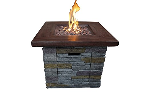Brick Fire Gas Pit - Belmont Home Brick Outdoor Square Gas Fire Pit