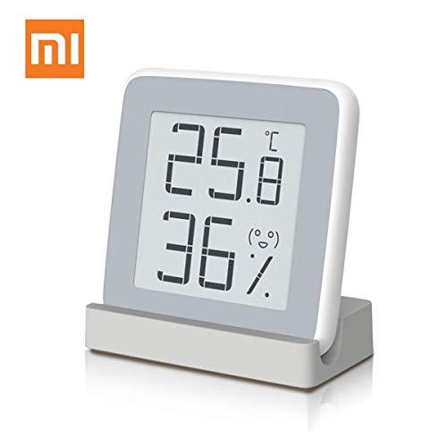 Homidy Digital Hygrometer Indoor Thermometer, Rare 360° HD E-Ink Screen Room Temperature Humidity Meter Swiss SENSIRION High Acurracy Temperature Humidity Gauge Sensor(Xiaomi Mijia Smart)